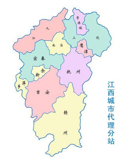 江西到青岛地图